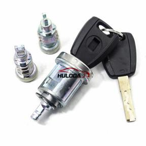 For Fiat full set lock (indules ignition  lock,left door lock,right door lock)
