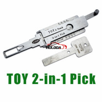 Toy 2 track lock pick and decoder  together  2 in 1  genuine !
