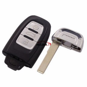 For Audi A4L and Q5 3 button Remote key Blank with emergency Key blade with stove-varnish cover