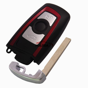 For BMW 5 series 3 button 3 remote key blank with Key Blade(red)