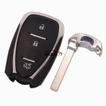 For Chevrolet 3 button remote key blank