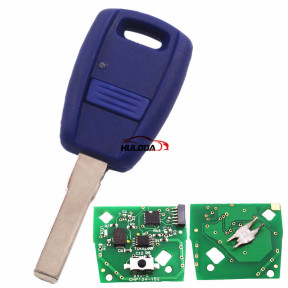 For Fiat Fir 114 and Punto 188 1 Button remote key with 434mhz in blue color, programmed by Zedfull with SIP22 blade