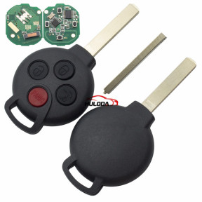 For Benz 3+1 Button remote key with 315mhz  ID46 PCF7941 Chip
