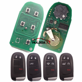 For Chrysler  keyless  remote key with 434mhz with PCF7945M (HITAG AES) chip  with 2+1/3+1/4+1 button key shell , please choose use for 2014-2018 JEEP Cherokee  434mhz ASK PCF7953M FCC ID: GQ4-54T    OE:68141580AE/AC/AF/AG/AB