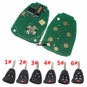 For Chrysler remote key  with PCF7941 Chip 46 Chip  FCCID is OHT692427AA for 2006-2010 year, with 433.92Mhz you need choose,what button remote you need? 2 ,2+1,3,3+1,4+1,5+1 button ?