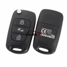 For  Kia original K2 2 button remote key with 434mhz Transmitter ASSY(QB) 4X000-433 RKE-4A01 CMIIT ID:2011DJ2069