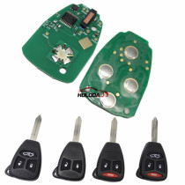 For Chrysler remote key with 315mhz is compatible with FCCID KOBDT04A and OHT692427AA.please choose with key shell 2,2+1,3,3+1 button