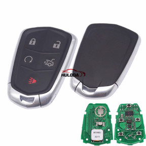 Cadillac smart keyless 4+1 button remote key with 315mhz