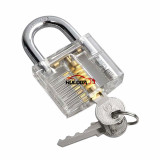 Transparent Visible Pick Cutaway Mini Practice View Padlock Lock Training Skill For Locksmith