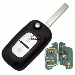 For Renault 2 button remote key with PCF7961(HITAG2) ID46 Chip 433 mhz Blade: VA2