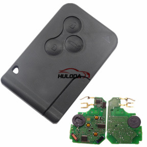 For Renault Megane  keyless 3 button remote key with PCF 7943A chip-434mhz with original PCB and after market key shell  FSK model