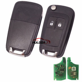 For Vauxhall 2 button remote key with 434mhz  G4-AM433TX 13271922 000274 PCF 7941 chip After market