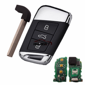 For VW MQB/B8 3 button keyless remote key with 434mhz with AES 48 chip ASK