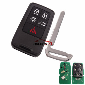 For Volvo 5 button remote key with 902mhz  PCF7945/7953 chip