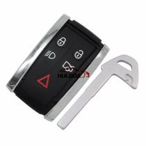 For Jaguar 5 button remote  key blank Jaguar XK 2006 Jaguar XF 2009-2012