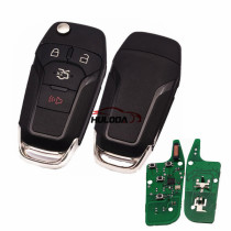 For Ford 3+1 button remote  key with Hitag pro chip-315mhz  with HU101 blade FCCID:N5F-A08TAA