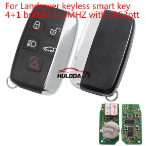 For Landrover keyless smart key 4+1 button 315MHZ with 7953ptt