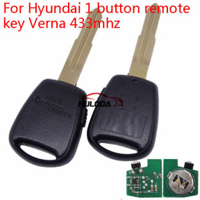 For Hyundai Verna 1 button remote key  with 433mhz
