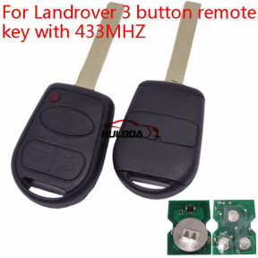 For Landrover 3 button remote key with 433MHZ