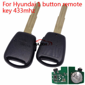For Hyundai Rio 1 button remote key with 433mhz