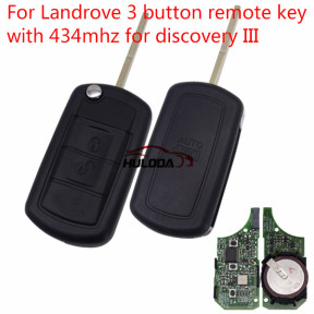 For Landrove 3 button remote key with 434mhz used for discovery III with 433MHZ with PCF7941 chip