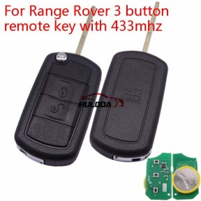 For Range Rover 3 button remote key with 433mhz