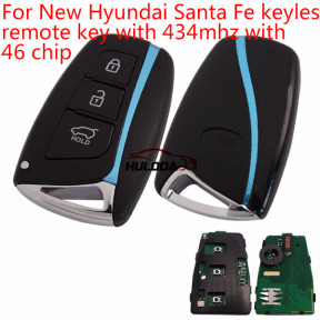 For Hyundai New Santa Fe 3 button  keyless remote key with 434mhz with 46 chip PCF7945/7953