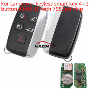 For Landrover keyless smart key 4+1 button 434MHZ with 7953ptt chip