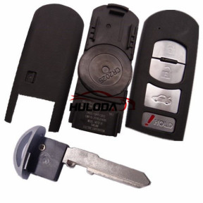 For Mazda 4 button remote key blank with blade ( 3parts)