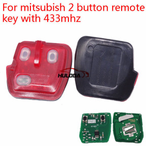 For Mitsubishi 2 button remote key with 433mhz
