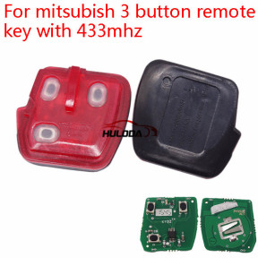 For Mitsubishi 3 button remote key with 433mhz