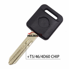 For nissan transponder key with T5 chip  ,with ID46 chip ,with 4d60 Chip