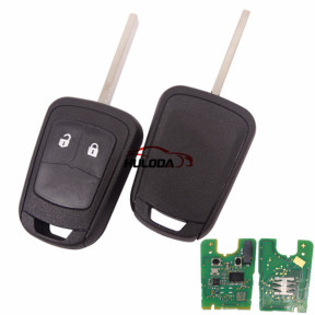 For Opel 2 button remote key with 433mhz, chip :GM(Hitag2)the PCB is original 5WK model