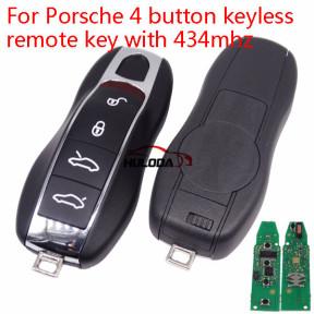 For Porsche 4 button keyless remote key with 434mhz