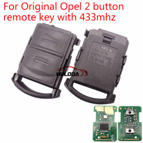 For Opel original 2 button remote key with 433mhz  with logo 5WK48668 CE:0499 IND:00 FKW:46/16 EL.IND:00 Duns:51-055-8799