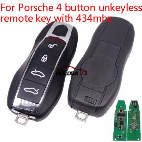 For Porsche 4 button non-unkeyless remote key with 434mhz
