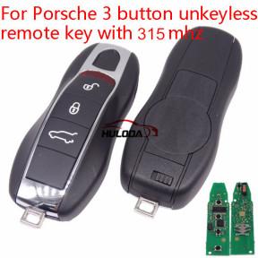 For Porsche 3 button non-unkeyless remote key with 315mhz Porsche Cayenne (2010+) Porsche Panamera(2010+) Porsche Macan(2010+)