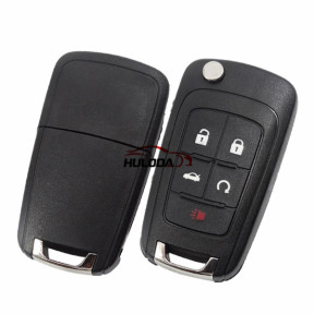 For opel 4+1 button remote key blank with panic