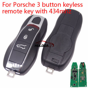 For Porsche 3 button keyless remote key with 434mhz