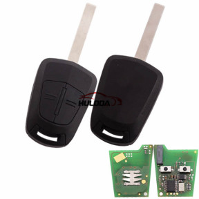 For Opel 2 button remote key  with PCF7941 (HiTag 2)-434mhz for Opel Corsa D car (2007 – 2014)   (Delphi)