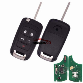 For opel 4+1 button remote key with 433mhz unkeyless, with 7941 chip