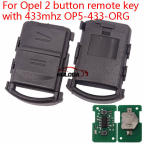 For Opel Corsa C   2 button remote key with 434mhz OP5-434-ORG