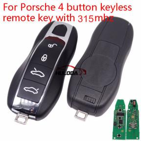 For Porsche 4 button keyless remote key with 315mhz
