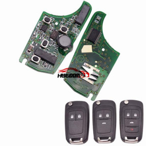 For opel smart keyless remote key with 433MHZ with 7952 chip 2;3;3+1button key, please choose which key shell in your need