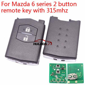 For Mazda 6 series 2 button remote key with 433mhz