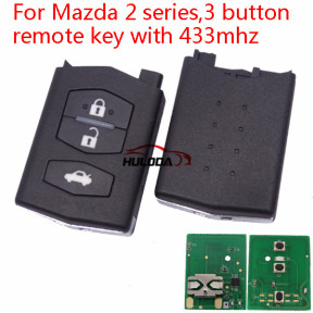 Mazda 2 series,3 button remote key with 433mhz