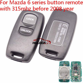 For Mazda 6 series 2 button remote key with 315mhz  before  2008 year