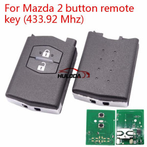 For Mazda 2 Series 2 button remote control with 433Mhz