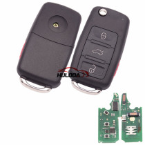 For VW  Touareg  keyless 3+1 button remote key with 315mhz with 7942 chip