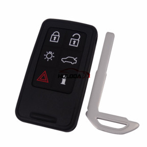 For Volvo 6 button remote key shell with 2 parts battery clamp